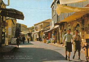 Israel Jerusalem At meat Shearim Quarter Street Postcard