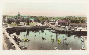 RP: VICTORIA, British Columbia, 1920-40s; Inner Harbor & Parliament Buildings