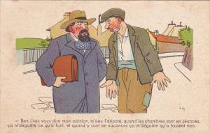 Political Comic postcard , France ,  10-30s # 2