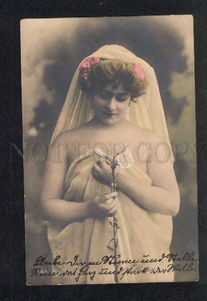 032647 FILLIOUX w/ Flower DANCER vintage PHOTO