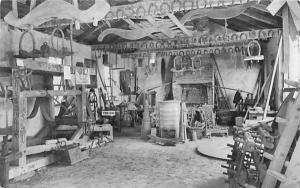 Interior of Blacksmith Shop Monroe, New York Postcard
