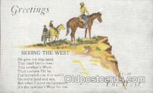 Western Cowboy Postcard Postcards  Greetings