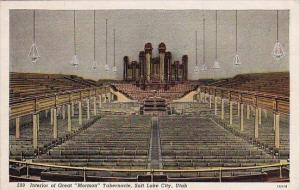 Utah Salt Lake City Interior Of Great Mormon Tabernacle