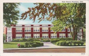 High School Napoleon Ohio Curteich