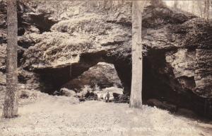 Iowa Maquoketa Natural Bridge Morehead Caves State Park Real Photo