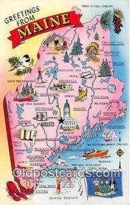 Maine, USA Postcards Post Cards Old Vintage Antique Maine, USA