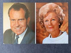 President & Mrs. Richard M. Nixon Chrome Postcard H1196084351