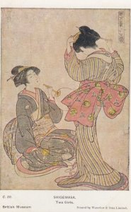 JAPAN , Art , 1910-30s ; British Museum #1 ; Shigemasa. Two Girls