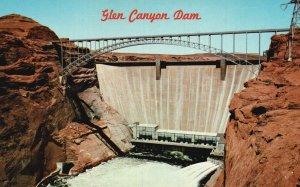 Page, Arizona, AZ, Glen Canyon Dam, Colorado River Chrome Vintage Postcard g5706