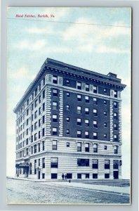 Norfolk VA-Virginia, Hotel Fairfax, Advertising Vintage c1907 Postcard