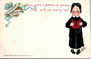 E Curtis~Boy as Grown-Up Parson~Will You Marry Me?~Certificates~1903 TUCK