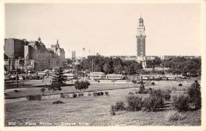Buenos Aires Argentina Plaza Retiro Real Photo Antique Postcard K79719
