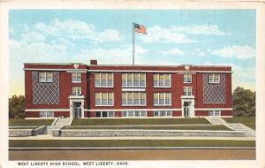 E31/ West Liberty Ohio Postcard c1910 West Liberty High School Building