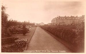 United Kingdom, Great Britain, England Gleneagles Hotel from the Tennis Court...