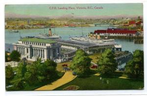 CPR Steamer Landing Place Victoria British Columbia BC Canada 1946 postcard