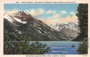 Waterton Lakes National Park, Alberta, Canada, Early Linen Postcard, Unused