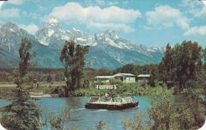 Menor's Ferry , Snake River , JACKSON HOLE , Wyoming , 50-60s
