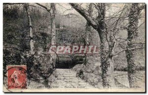 Old Postcard Arcy Sur Cure Caves Entree