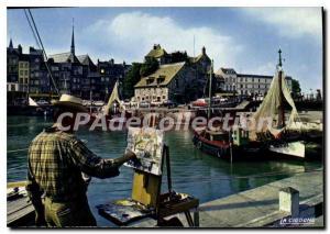 Modern Postcard Honfleur Basin And The Lieutenancy