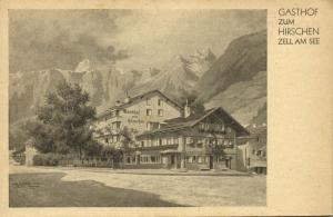 austria, ZELL AM SEE, Gasthof zum Hirschen, Inh. R.u.J. Leeb (1930s)