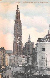 Canal au Sucre et Fieche de la Cathedrale Anvers Belgium Writing on back