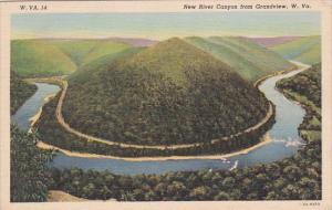 West Virginia Grandview New River Canyon From Grandview 1939
