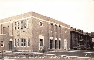 Edgerton Wisconsin~High School & New Auditorium~1944 Real Photo Postcard~RPPC