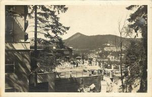 c1940 Real Photo Postcard Semmering Terasse vom Palace Sanatorium Austria Posted