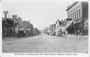 Missouri Valley Iowa~Erie Street~Mac's Soda Grill~Central Grocery Store~1932 B&W