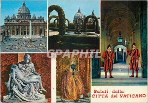 Postcard Modern Saluti dalla Citta del Vaticano Army
