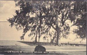 Bay St Louis MS - GLIMPSE of U.S. Route 90 Highway Bridge Bay, 1940s