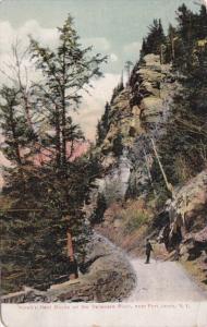 New York Port Jervis Hawks Nest Rocks On The Delaware River 1910
