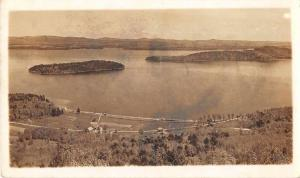 Laconia New Hampshire Aerial View Real Photo Antique Postcard J51342