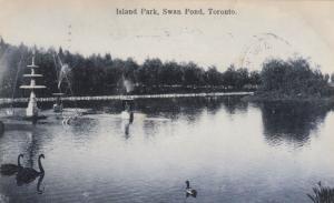 TORONTO , Ontario, 1907 ; Island Park , Swan Pond