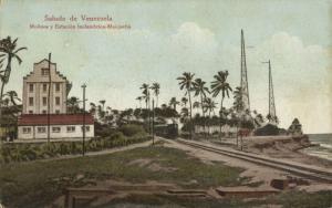 venezuela, MAIQUETIA, Estación Inalámbrica Wireless Radio Station, Train (1910s)