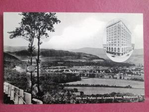 Old Postcard PA Williamsport view and  Lycoming Hotel