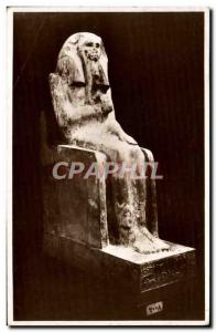 Postcard Ancient Limestone Statue Of King Zoser Egypt Egypt