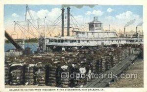 Loading Cotton New Orleans Ferry Boats, Ferries, Steamboat, Ship New Orleans,...
