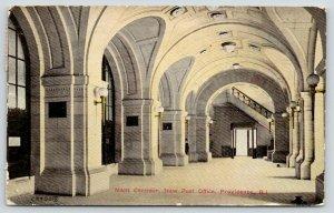 Providence Rhode Island~New Post Office~Main Corridor~Staircase~1913