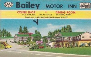 Washington Olympia Bailey Motor Inn Restauarnt & Coffee Shop sk5031