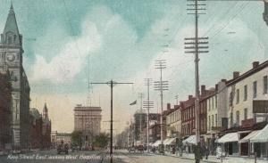 HAMILTON, Ontario, Canada, 1907 ; King Street East , Looking West