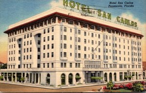 Florida Pensacola The San Carlos Hotel 1953 Curteich