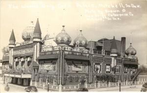 1930s RPPC Postcard Corn Palace Mitchell SD Brown Photo Grigg Enterprise Co.