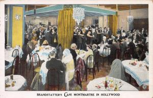Brandstatter's Cafe Montmartre in Hollywood, CA., Early Postcard, Used in 1929