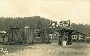 1930s Klamath California Humboldt Camp Marigold Cabin Gas Station Patterson RPPC