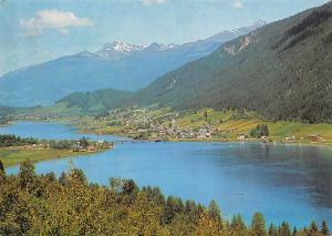 Weissensee in Kaernten Bruecke Bridge Lake General view
