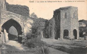 Belgium Gand Les ruines de l'Abbaye de St. Bavon, Le Cloitre et le Lavatorium