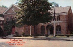 Greetings from Cooperstown, N.Y., Home of Baseball, Postcard, used in 1959
