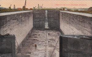 Panama Canal View Of Lock Chamber Of Gatun