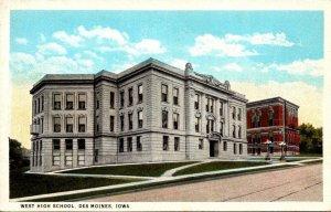 Iowa Des Moines West High School Curteich